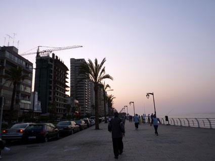 Liban - La corniche de Beyrouth
