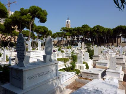 Liban - Beyrouth - Cimetière Musulman