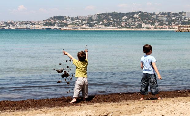 Plage de la pointe rouge a Marseille