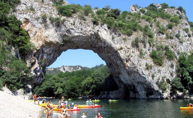 La descente des Gorges de l'Ardèche