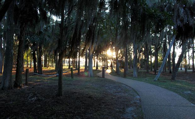 Coucher de soleil au parc John Chestnut