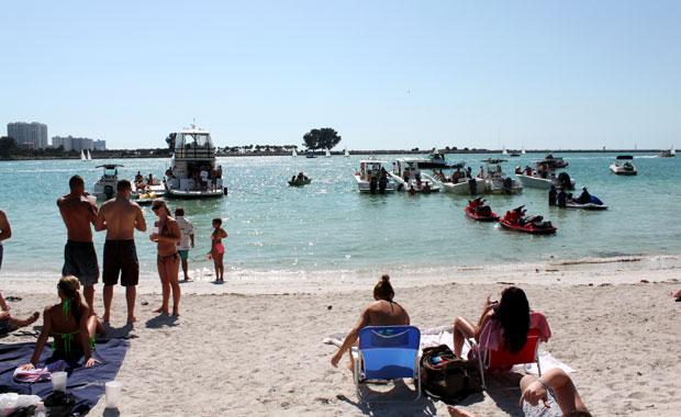 Un dimanche entre amis à Clearwater Beach