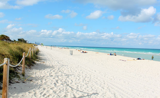 La plage de Miami Beach