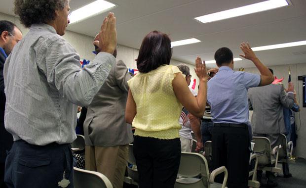 Cérémonie de naturalisation américaine