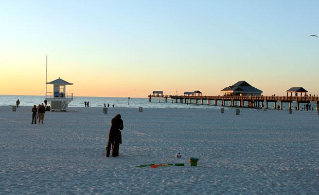Coucher de soleil au Pier 60 de Clearwater Beach
