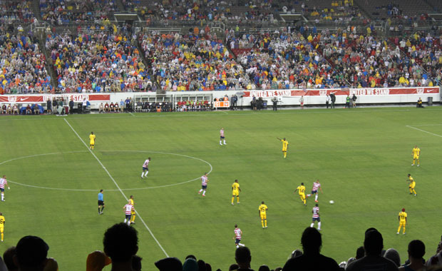 Soccer Match Etats Unis vs Antigua