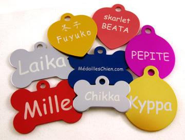 Médailles gravées pour chien